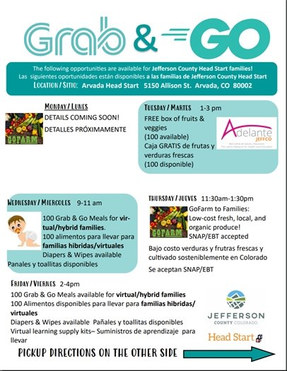 Grab and Go flier for Head Start