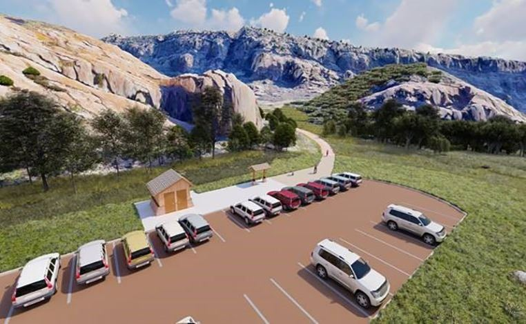 Rendering of South Valley Park trailhead improvements