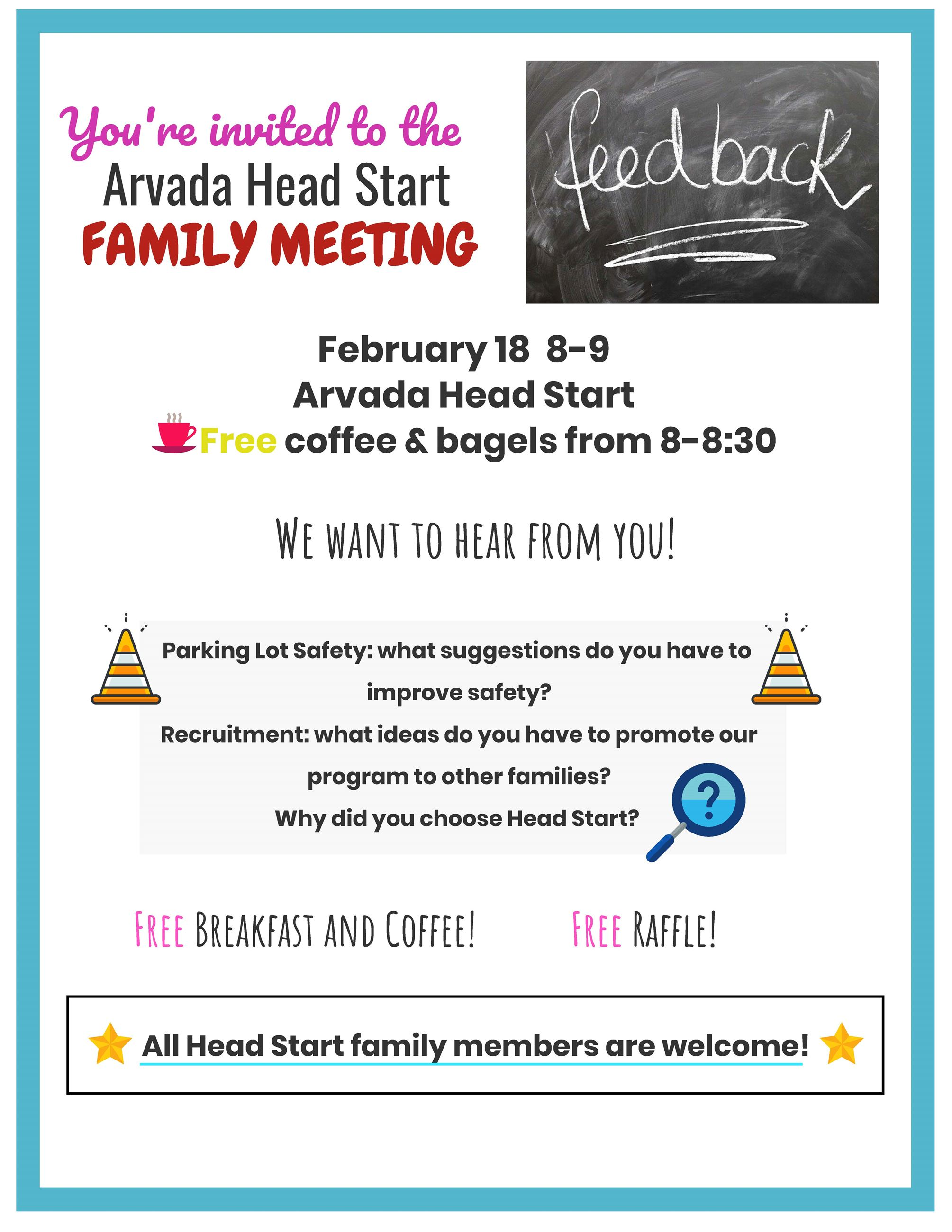 Arvada Feb 2020 Family Meeting Flyer