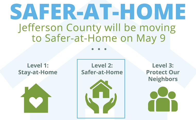 Safer-at-Home graphic