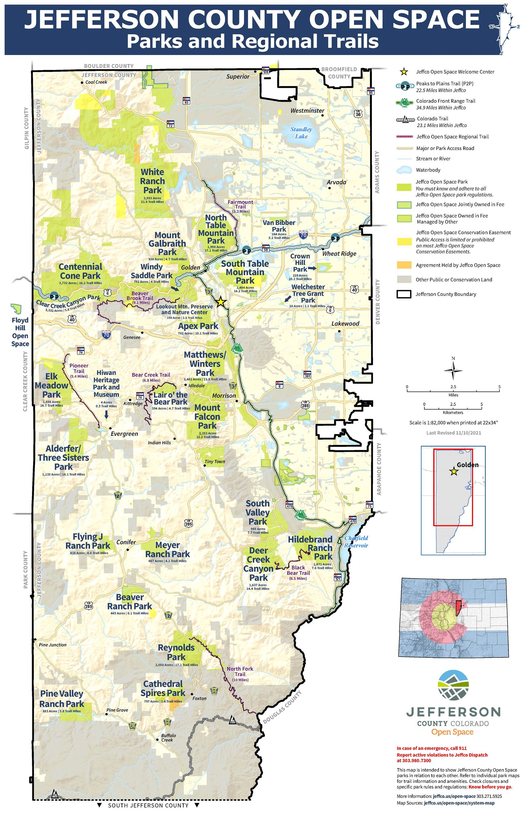 Jefferson County Map JCOS System Map | Jefferson County, CO