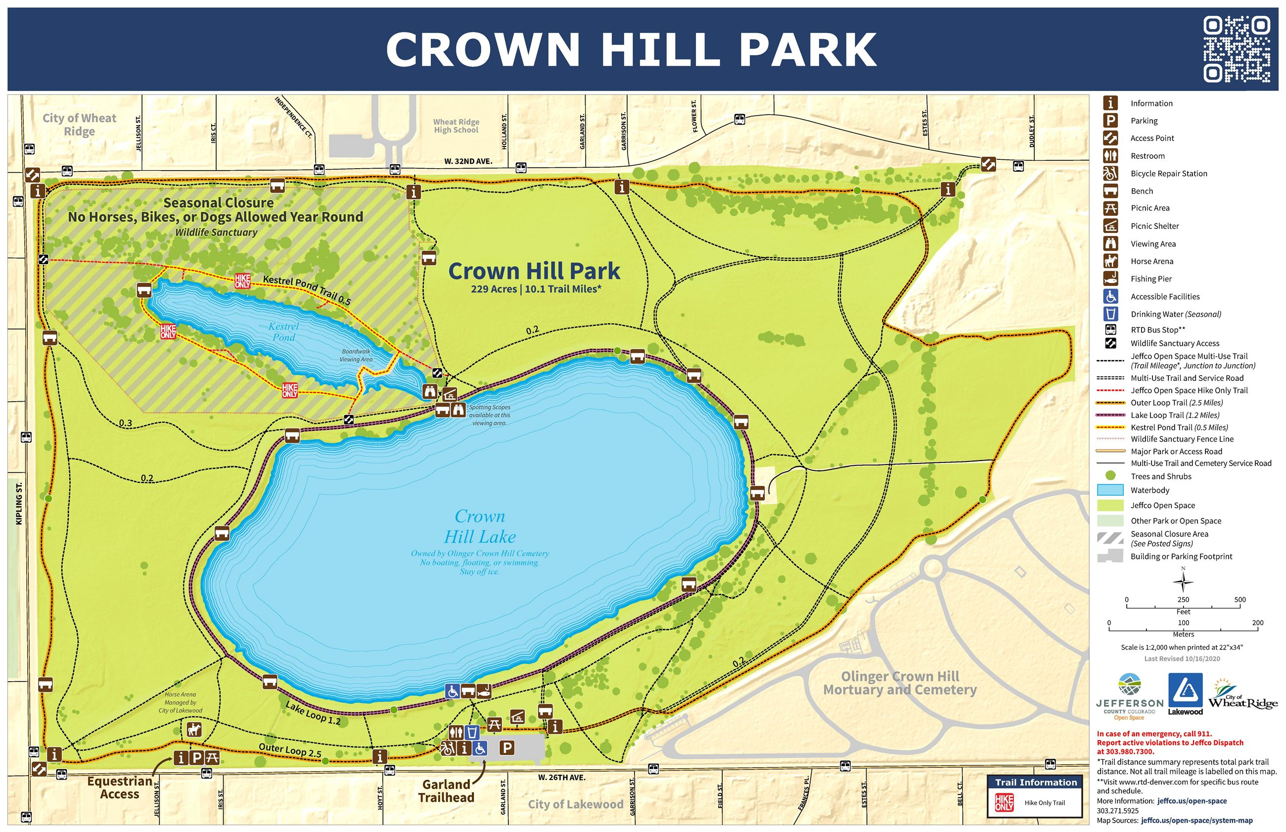 Crown Hill Park Map
