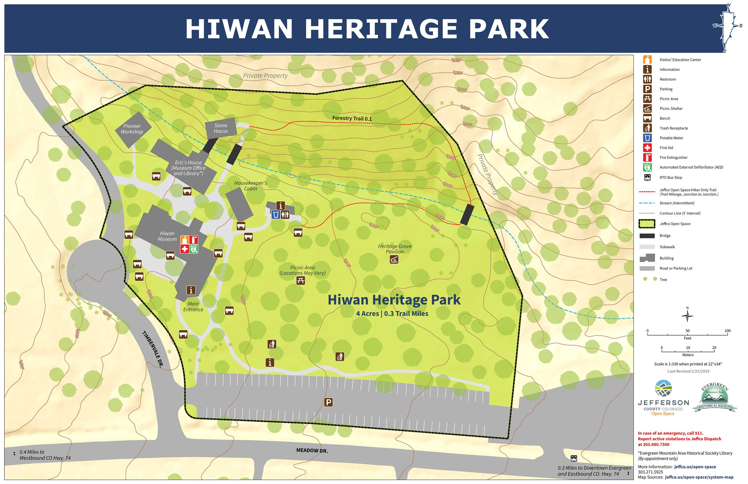 Hiwan Heritage Park Map