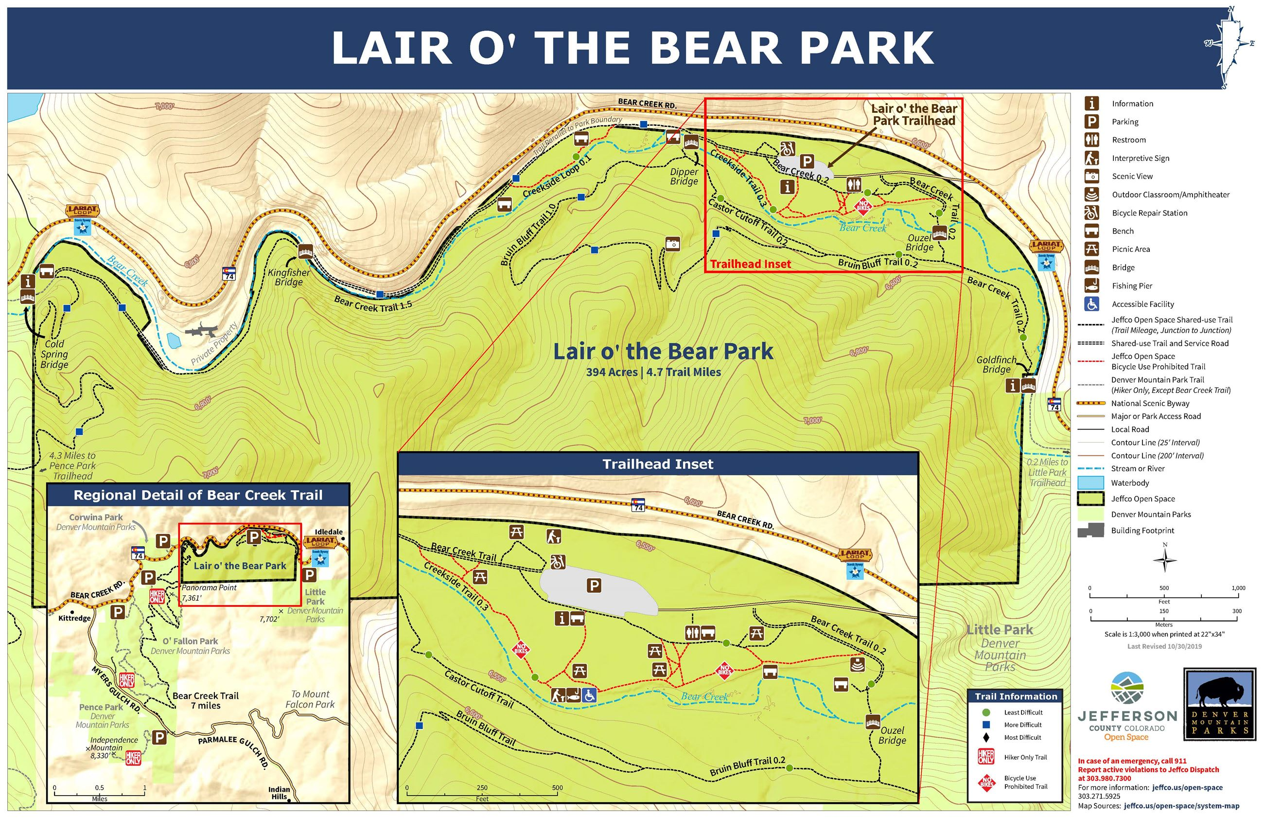 Lair o' the Bear Park Map